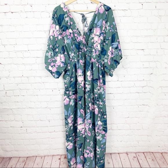 Jessica Simpson Dresses & Skirts - Jessica Simpson Maternity Green Floral Maxi Dress